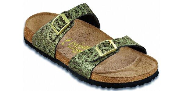 Dámske zlato-hnedé papuče Papillio