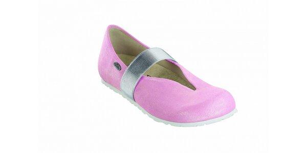 Dámske svetlo ružové baleríny Papillio