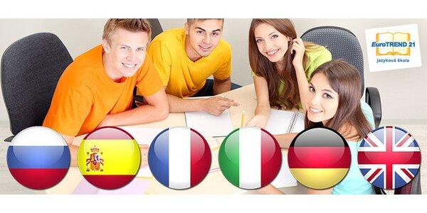Jazykové kurzy AJ, NJ, TJ, FJ, ŠJ, RJ