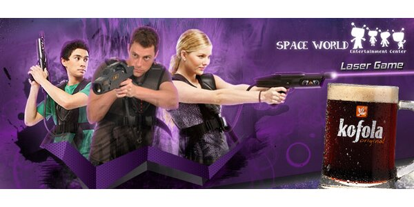 Laser game v Space World Laser aréne a malá kofola