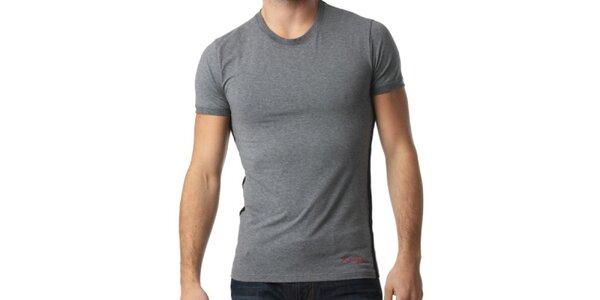 Pánske tmavo šedé tričko s krátkym rukávom Kenzo