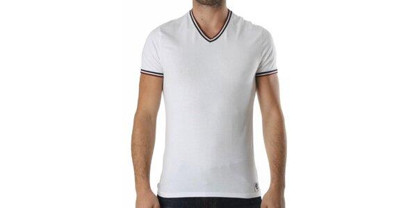Pánske biele tričko s véčkovým výstrihom Kenzo
