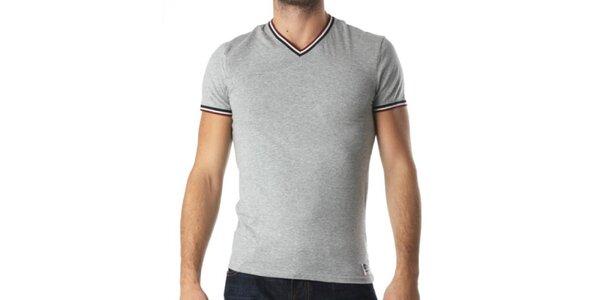 Pánske šedé tričko s véčkovým výstrihom Kenzo