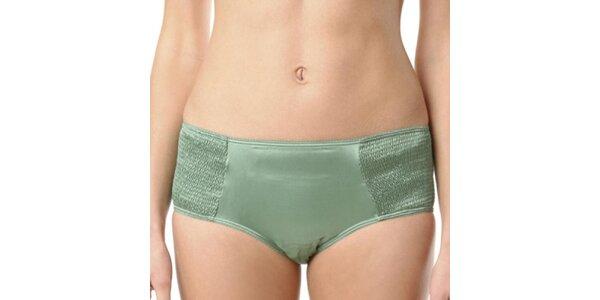 Dámske zelené hodvábne nohavičky Kenzo