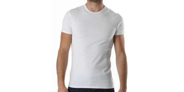 Pánske biele tričko s krátkym rukávom a výšivkou Kenzo