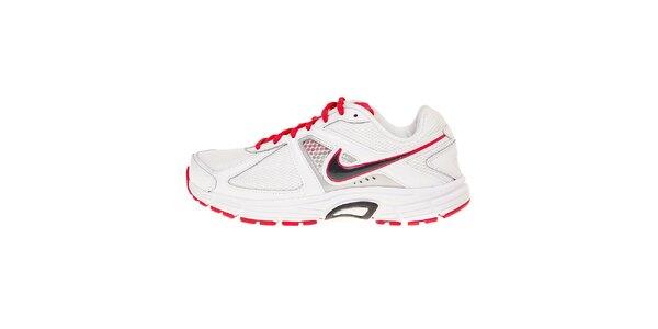 Dámske biele bežecké topánky Nike Dart 9 s červenými detailami