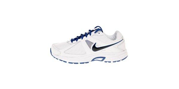 Pánske biele bežecké topánky Nike Dart 9 s modrými detailami