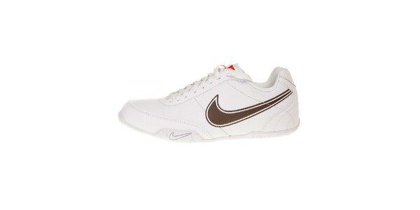 Pánske biele tenisky Nike T77 Lite s hnedým logom