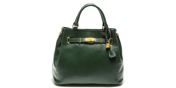 Dámska zelená kabelka so zámčekom Isabella Rhea
