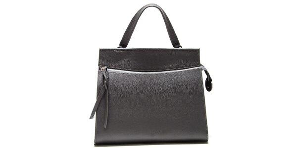 Dámska šedá kabelka s horizontálnym zipsom Isabella Rhea