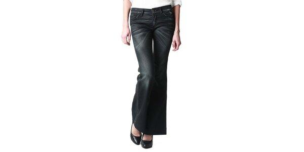 Dámske čierne zvonové džínsy Replay