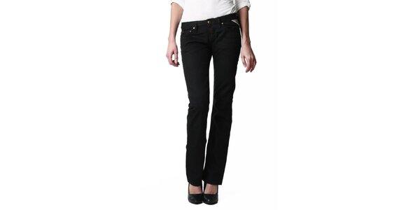 Dámske čierne džínsy rovného strihu Replay