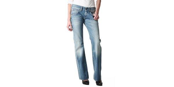 Dámske rovné šisované svetlé džínsy Replay
