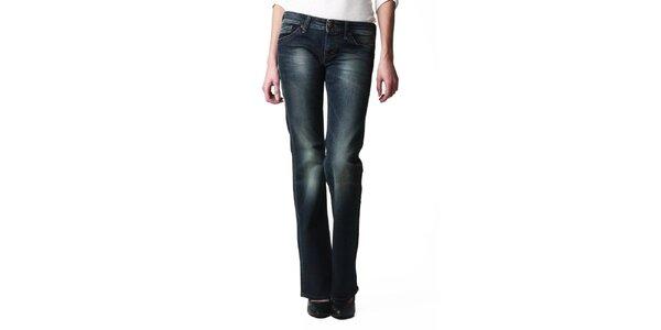 Dámske rovné tmavé džínsy s šisovaním Replay