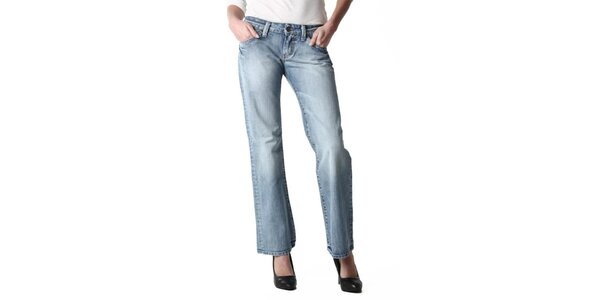 Dámske široké modré džínsy Replay