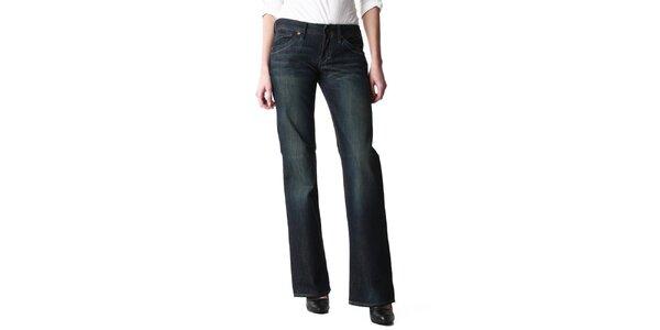 Dámske široké tmavomodré džínsy Replay