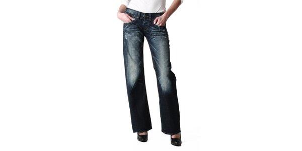 Dámske tmavo modré voľné džínsy Replay