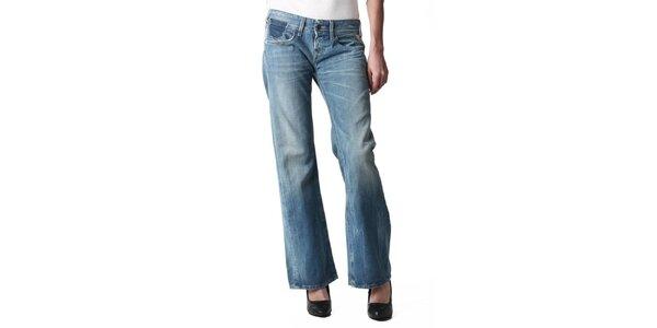 Dámske modré rozšírené džínsy Replay