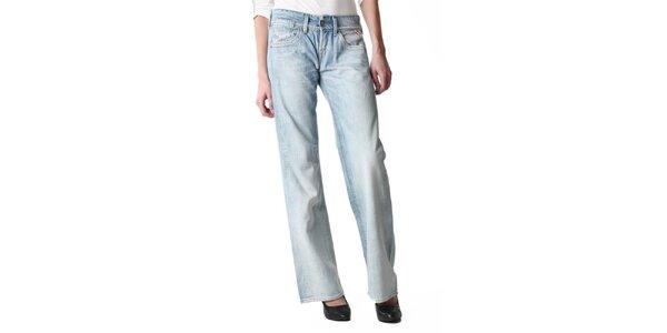Dámske svetlo modré široké džínsy Replay