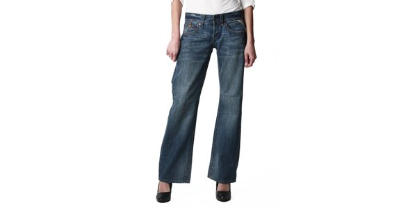 Dámske modré široké džínsy Replay