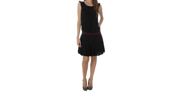 Dámske čierne šaty Naf Naf s mašľou