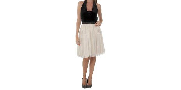 Dámske čierno-krémové šaty Naf Naf