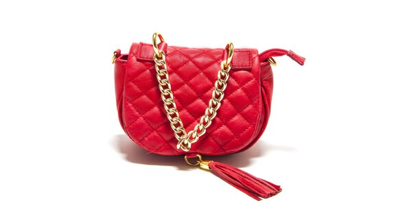 Dámska červená prešívaná kabelka Isabella Rhea