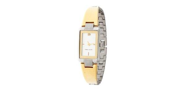 Dámske zlato-strieborné náramkové hodinky Danish Design
