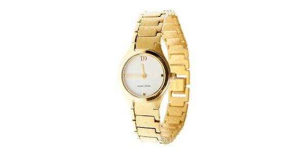 Dámske zlaté titanové hodinky Danish Design