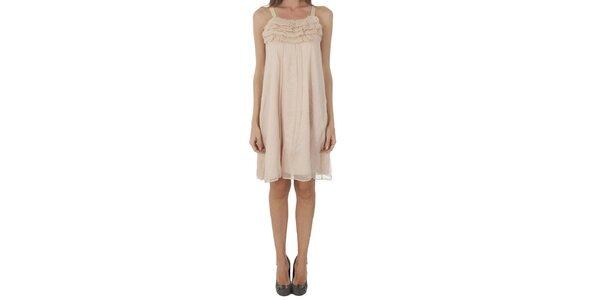 Dámske svetlo ružové šaty Naf Naf