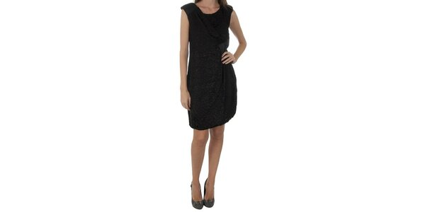 Dámske čierne šaty Naf Naf