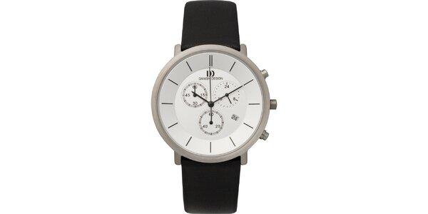Pánske analógové hodinky s bielym ciferníkom Danish Design