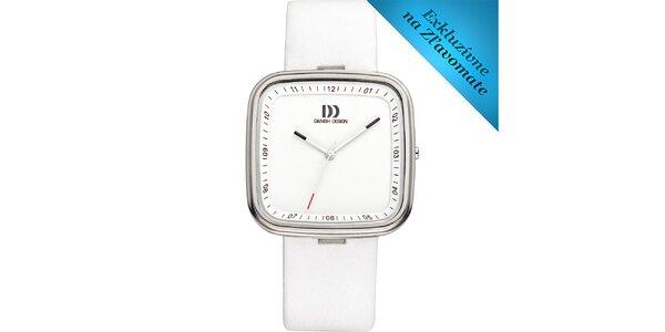 Dámske biele analógové hodinky Danish Design