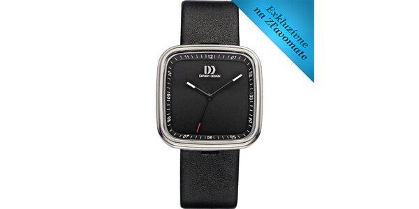 Dámske čierne analógové hodinky Danish Design