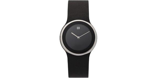 Dámske čierne minimalistické hodinky Danish Design