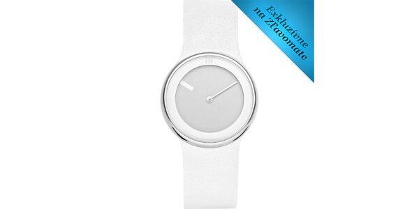Dámske biele minimalistické hodinky Danish Design