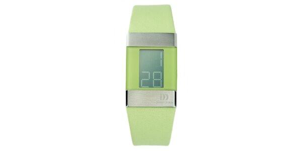 Zelené digitálne hodinky Danish Design
