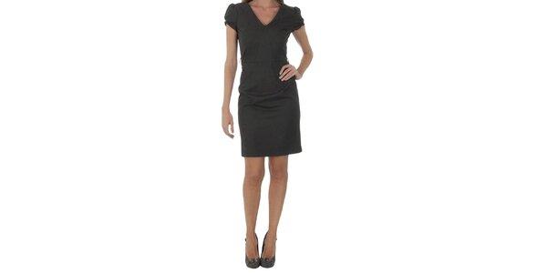 Dámske čierno-šedé šaty Naf Naf