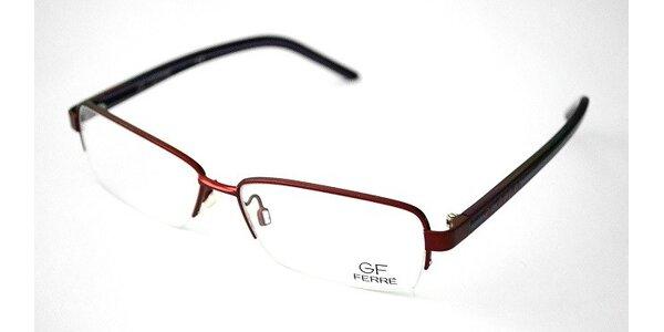 Červený kovový rám - FF215-02 R64