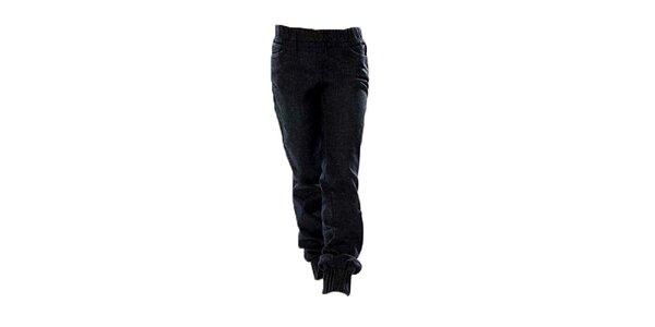 Dámske tmavo modré nohavice s elastickým pásom Ruby London