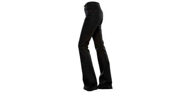 Dámske čierne zvonové džínsy Ruby London