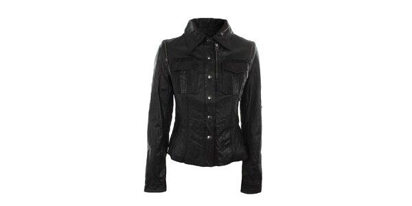 Dámska čierna bunda s náprsnými vreckami Company&Co