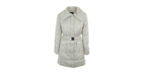 Dámsky bielo-šedý šušťákový kabát s límcom Compan&Co
