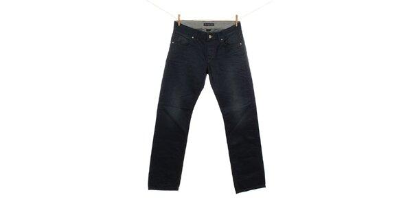 Pánske tmavé modré džínsy Fuga