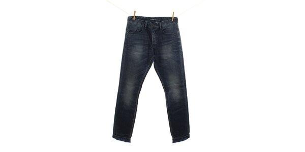 Pánske modré džínsy s šisovaním Fuga