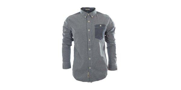 Pánska košeľa s modrým náprsným vreckom Fuga