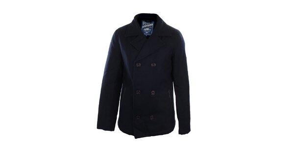 Pánsky modrý dvojradový kabát Fuga
