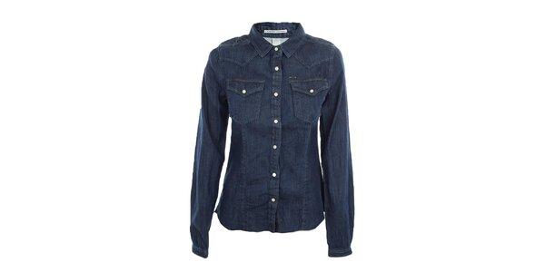 Dámska modrá džínsová košeľa Fuga