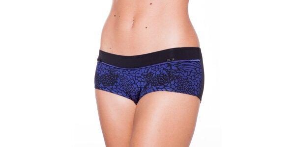 Dámske modro-čierne nohavičky Wonderbra s leopardím vzorom