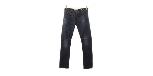 Dámske tmavé džínsy s jemným šisovaním Fuga
